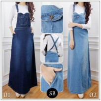 SB Collection Dress Maxi Prisa Overall Longdress Jumpsuit Jeans Wanita