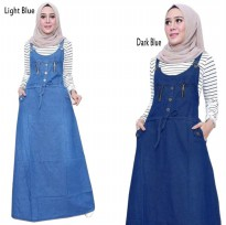 SB Collection Dress Maxi Priscila Overall Longdress Jumpsuit Jeans Wanita