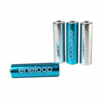 Sanyo Eneloop Glitter 4pc Battery AA Rechargeable Pack