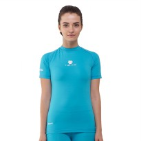Tiento Baselayer Manset Rashguard Compression Short Sleeve Turkis White Original