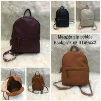 MANGO ZIP PEBBLE BACKPACK ORIGINAL