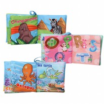 EELIC Buku Bayi Mainan l 6 Macam Pilihan l Alphabet/Person/Ocean/Farm/Animal/Orchar