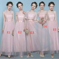 Bridesmaid dress gaun pengapit pengantin pesta warna peach panjang