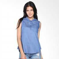 Surfer Girl Coco Top Woven 8COCO - Blue