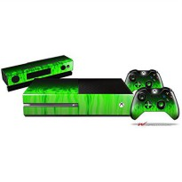 [poledit] WraptorSkinz Fire Green - Holiday Bundle Decal Style Skin Set fits XBOX One Cons/12509930