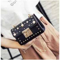KGS Tas Pesta/Casual Wanita Bling Clutch Shoulder Bag 2 Pilihan Warna