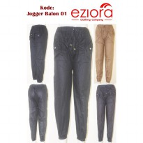 HOT PROMO! [EZIORA] Celana Jogger Joger Katun Stretch Balon Allsize Fit XL