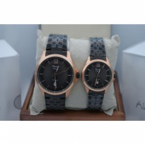 Jam Tangan Couple Alexandre Christie 8530 Rose Gold Black