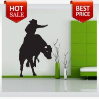 [globalbuy] Bull Rider Cowboy Western Kids Room decoration vinyl wall decals quote home li/1502545