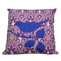 Hermosa Bantal Sofa 45x45 Blue Bird Purple