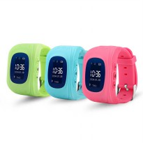Kids Monitoring Smartwatch LCD Screen with GPS + SOS Function - Pink