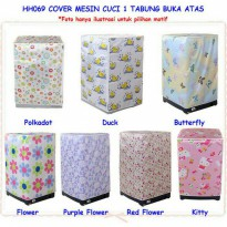 cover mesin cuci bukaan atas / sarung mesin cuci top load / washing machine cover top load