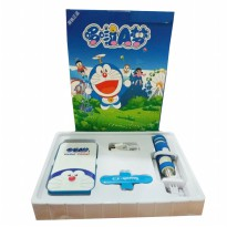 Doraemon powerbank 8000 mAh Set ( Tongsis U Touch Holder Kabel )