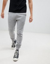 Hollister core icon logo cuffed jogger in gray marl