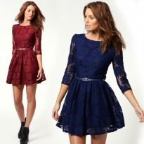 DRESS LACE MEDIUM HAND KOREAN WITH BELT (SS D 30)