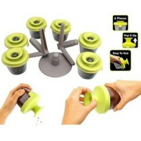 Pop Up Spice Rack 6in1 ( sendok garpu plastik multifungsi food grade