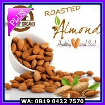 (Makanan Diet) Natural Roasted Almond (Panggang) 1 Kg