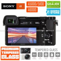 Sony Alpha A5000 A5100 A6000 LCD Tempered Glass Screen Protector Anti Gores