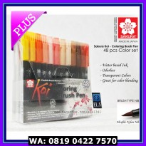 (Spidol Warna) Sakura Koi Coloring Brush Pen - 48 Color Set