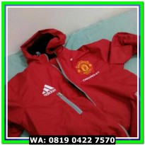 (Sale) JAKET BOLA WATERPROOF TRACKER MU RED