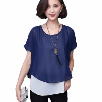 Jfashion Korean Style Double Layer Blouse - Ivanka
