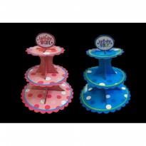 Beli 1 Gratis 1 LR377 Stand cup cake 3 tier cup cake stand Rack cup cake