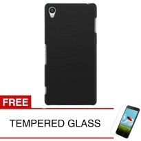 Case for Sony Xperia Z4 (5.2') - Slim Black Matte Hardcase + Gratis Tempered Glass