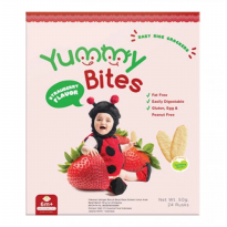 Yummy Bites Baby Rice Crackers - Strawberry