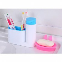 Sink Tidy Sey Dispenser Sabun Tempat Sikat Gigi Odol Sink Tidy Set