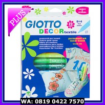 (Spidol Warna) GIOTTO Decor Textile 12 Colors