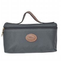 Authentic Longchamp Le Pliage Nylon Cosmetic Case - GREY