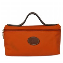 Authentic Longchamp Le Pliage Nylon Cosmetic Case - ORANGE