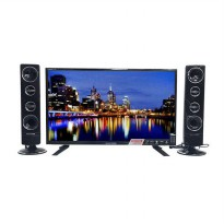 Polytron 24T8511 Cinemax LED TV with Tower Speaker [24 Inch/Black] - Free Delivery