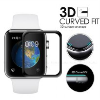 Tempered Glass Full Frame 4D Apple I-Watch Series 3 38MM - Black