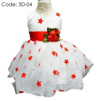 BABY GOWN DRESS IMPORT/ GAUN PESTA ANAK - STARS Code: 3D-04