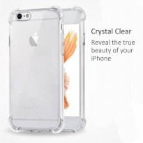 Case Anti Shock / Anti Crack Softcase - Clear - Tipe Lengkap Samsung iPhone Xiaomi Oppo DLL Jilid 2
