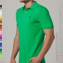 POLO COUNTRY Original C5-40 Kaos Polo Cowo Cotton Lycra Hijau Daun