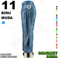 ROK LILIT Instan B115-11 Bahan Songket Batik Include Gasper Ring Belt