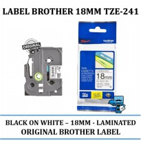 Promo Brother color tape \ label 18 mm Black on White tze- 241