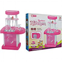 MAINAN MASAK MASAKAN ANAK FASHION MINI KITCHEN SET KOPER PINK