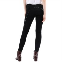 Mobile Power Ladies Slim Fit Stud Jeans - Black Y2330S
