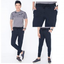 Celana Median Black Jogger Hitam Variasi List Pocket - Ready 4 Size