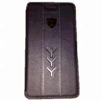 Lamborghini Ultra Slim Flip Case For Blackbery Z10 - Hitam