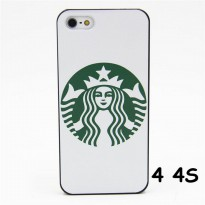 R.E.A.D.Y HARD CASE FASHION STARBUCKS COFFEE WHITE FOR IPHONE 4 4S