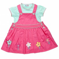 Torio Tosca Floral Overall Set
