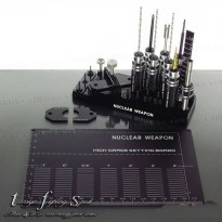 (Recommended) Rep Tamiya Nuclear Weapon Tool Set / Peralatan Mini 4WD Black (TL1001)