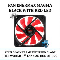 Promo FAN Enermax MAGMA Black Frame With Red LED 12CM - UCMA12A