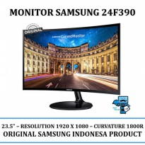 Promo Monitor Samsung Curved LC24 24F390 24 Inch LCD LED Monitor HDMI+VGA