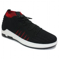 Dr. Kevin Sepatu Sport Pria Men Sneakers 13363 (2 Color Options) - Black/Black & Black/Red