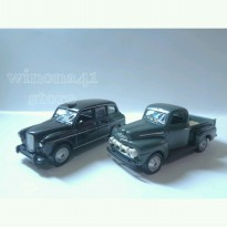 DIECAST MINIATUR REPLIKA MURAH LONDON TAXI & FORD PICK UP 1/60 SET 2 PCS